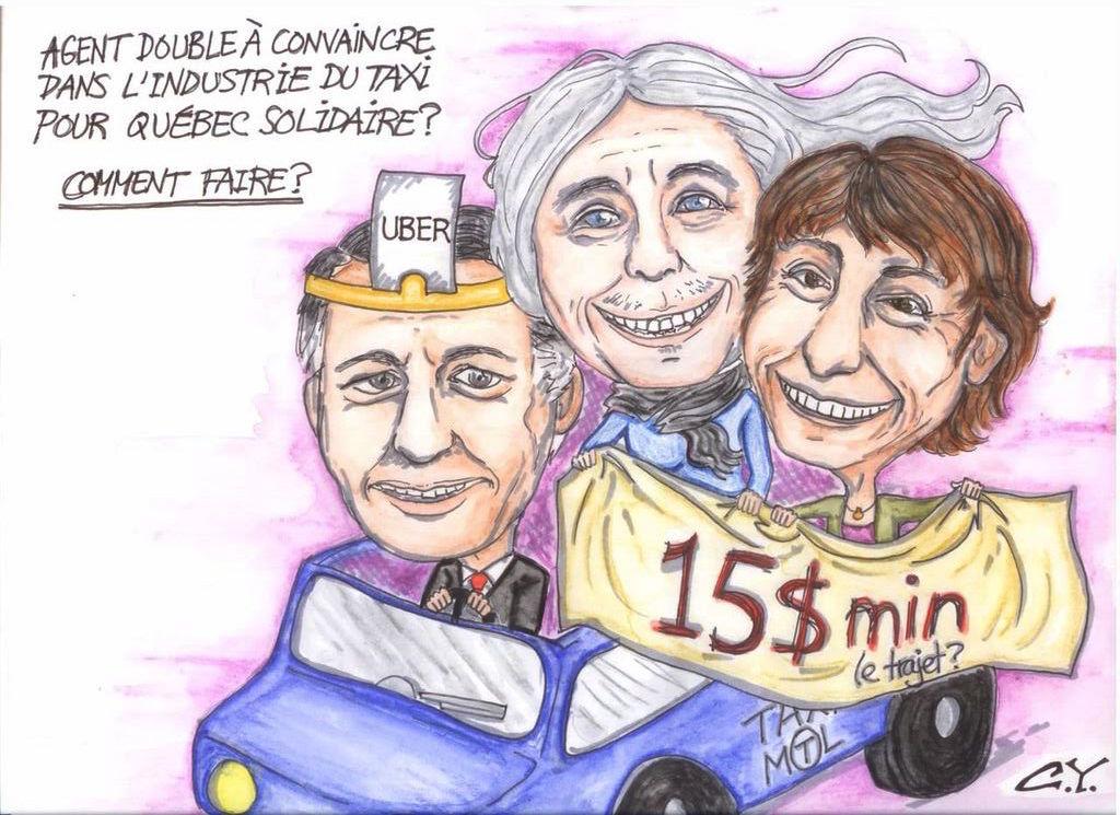 Taxi et Québec Solidaire