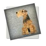 Welsh terrier collection _greeting card.