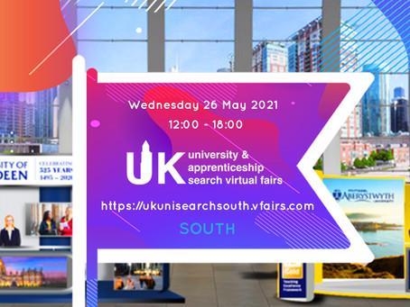 UK University & Apprenticeship Search Virtual Fair (Yrs 10-13) 26/5/21 - APPLY NOW!