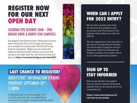 New College Swindon September Newsletter