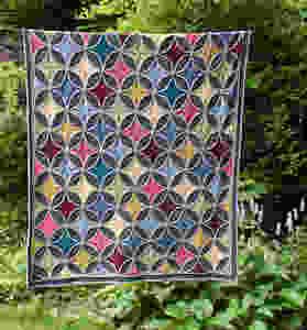 Cathedral window blanket pattern