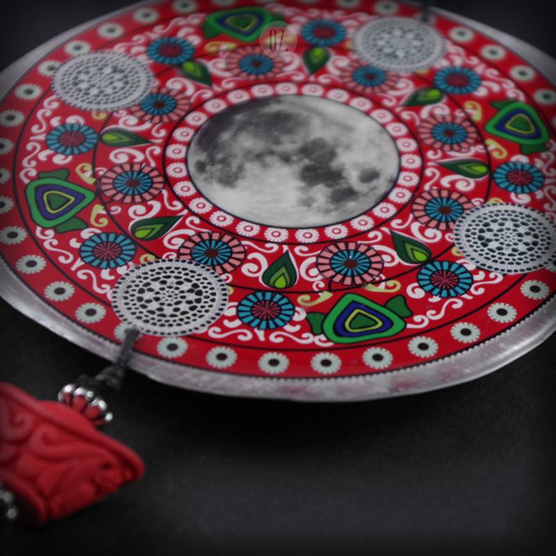 Red mandala necklace