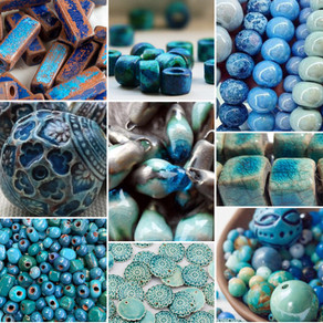 Beautiful Ceramic Beads - Turquoise Selection