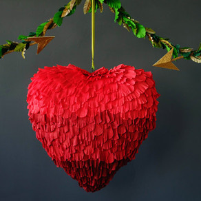How to Make a Paper Heart Shaped Piñata