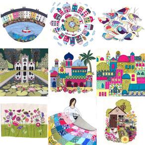 Chloe Rafferty - Days In Design, Textile Illustrations