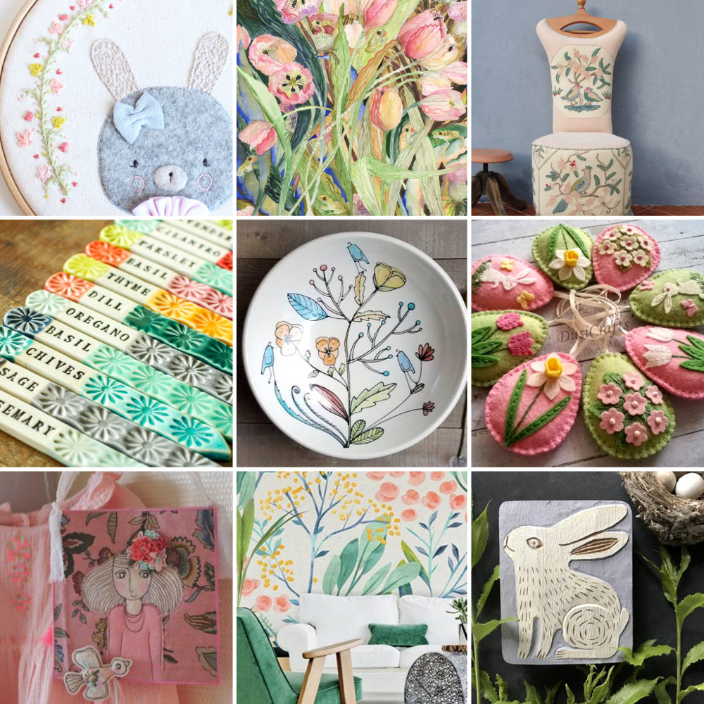 Easter home decor ideas - pastels