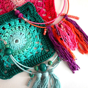 Bra Wires into Boho Necklaces