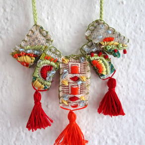 Embroidered Necklace - DIY