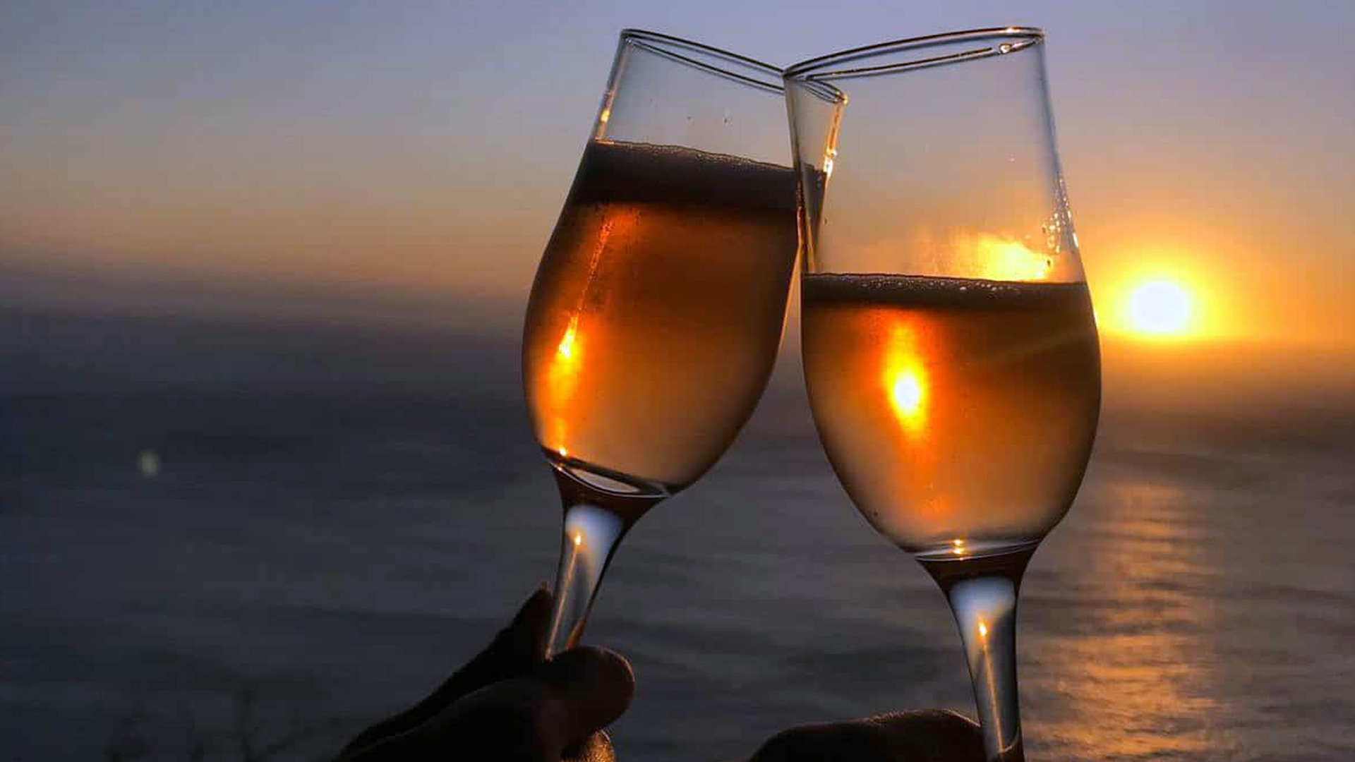 Cheers-at-Sunset