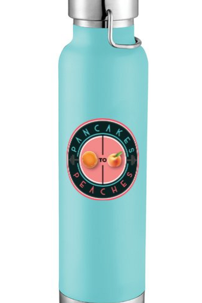 22oz. Copper Insulated Water Bottle (Teal/Coral)