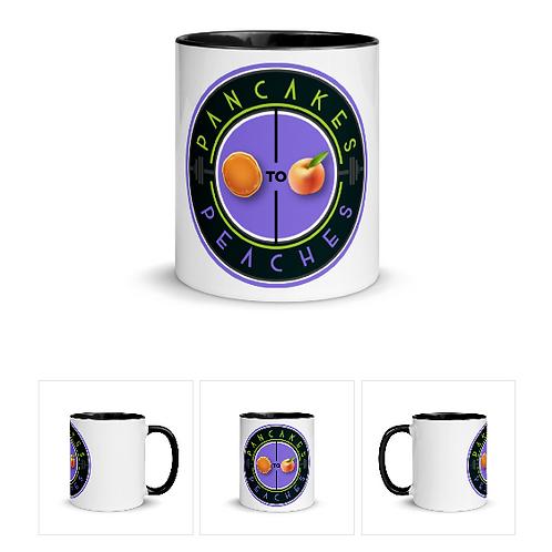 Two Color Ceramic Mug (Black/Purple)
