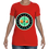 Thumbnail: Women's Cut Crew Neck Tee (Red/Jade)