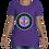 Thumbnail: Women's Cut Crew Neck Tee (Purple/Purple)