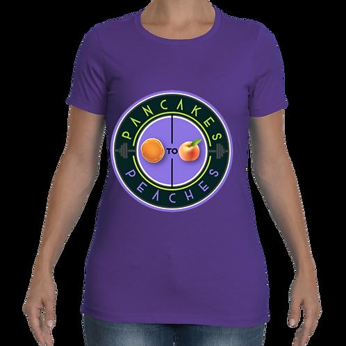 Women's Cut Crew Neck Tee (Purple/Purple)
