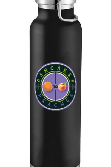 22oz. Copper Insulated Water Bottle (Black/Purple)