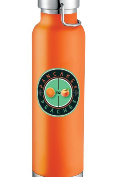 22oz. Copper Insulated Water Bottle (Orange/Jade)
