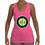 Thumbnail: Stretchy Jersey Racerback Tank (Pink/Apple)