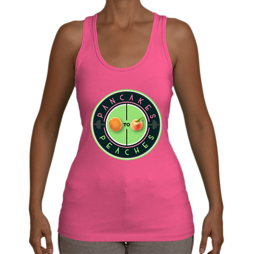 Stretchy Jersey Racerback Tank (Pink/Apple)