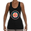Thumbnail: Stretchy Jersey Racerback Tank (Black/Coral)
