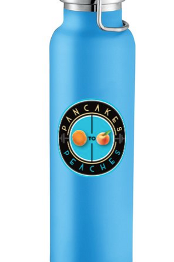 22oz. Copper Insulated Water Bottle (Turq/Turq)