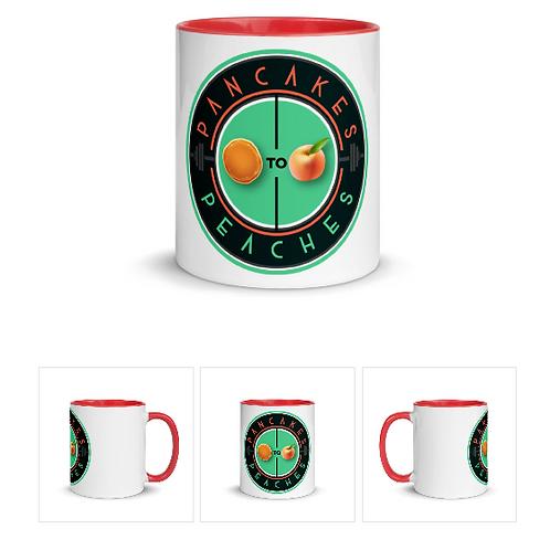 Two Color Ceramic Mug (Red/Jade)
