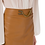 Thumbnail: Elisabetta Franchi - Faux leather midi skirt with gold detailing - Brown