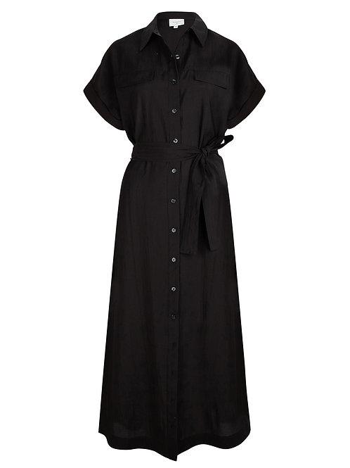 Dante dress Romy belted black 014227