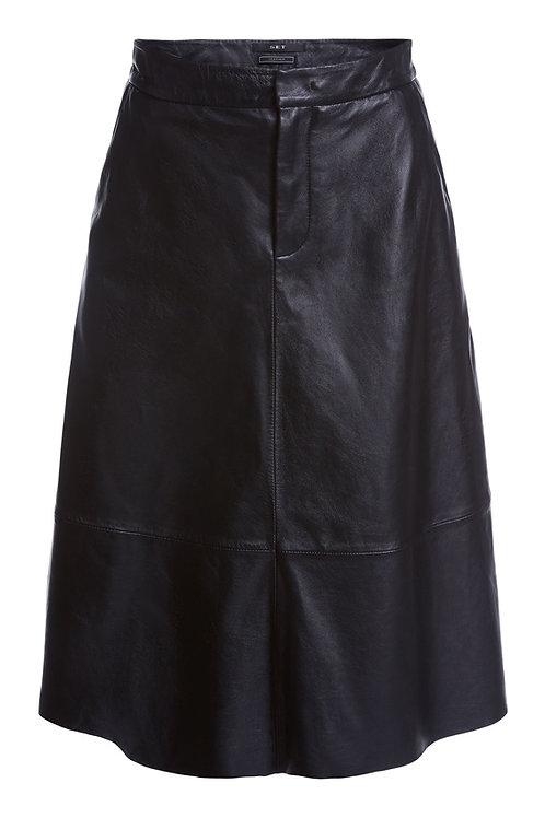 SET Leather skirt in midi length