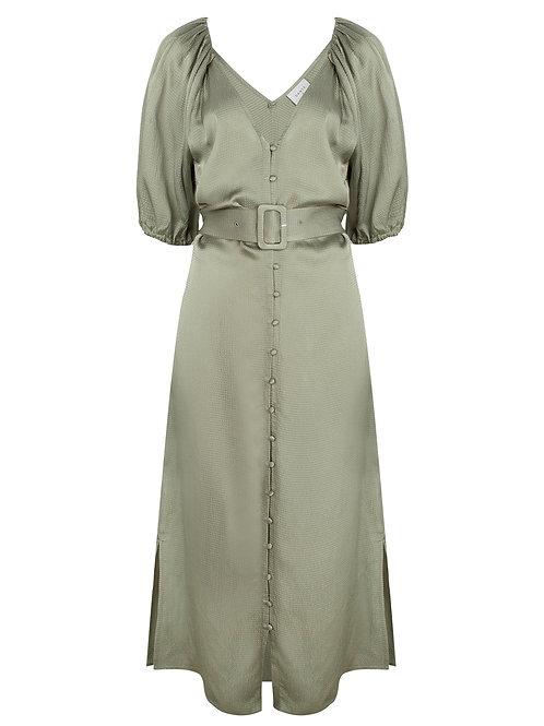 Dante Belted dress Chiara sage green 014225