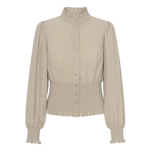 Notes du nord Oliana smock blouse silver mink