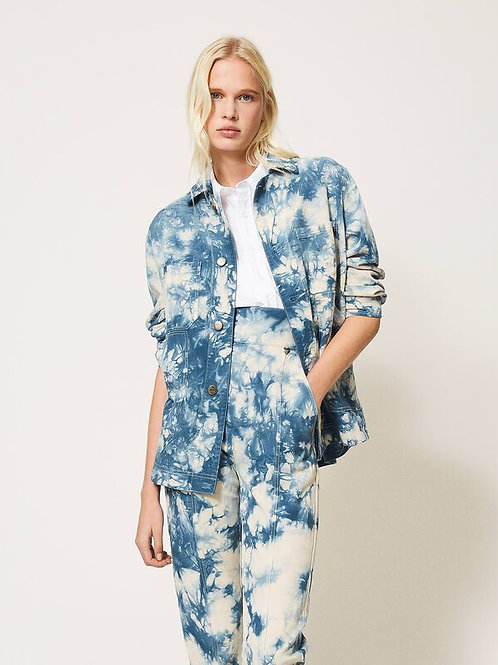 Twin-set tie dye jacket Azur 013582