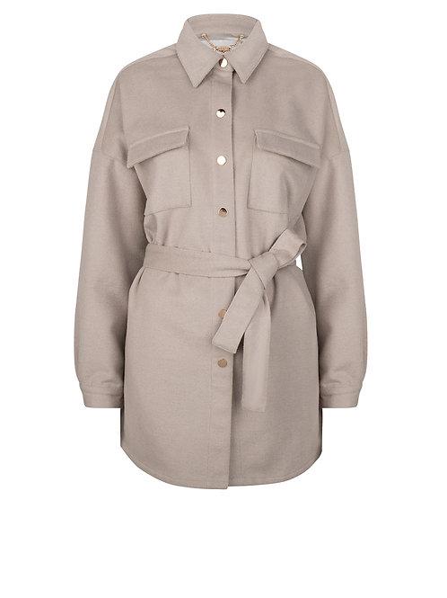 Dante-6 Jacket siden warm grey 013677
