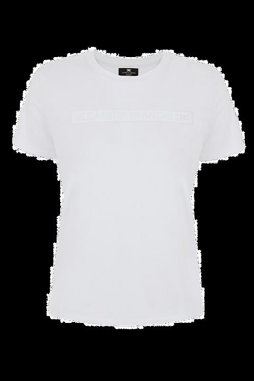 Elisabetta Franchi T-shirt Burro/Nero