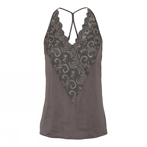 Gustav Cassie strap top with lace