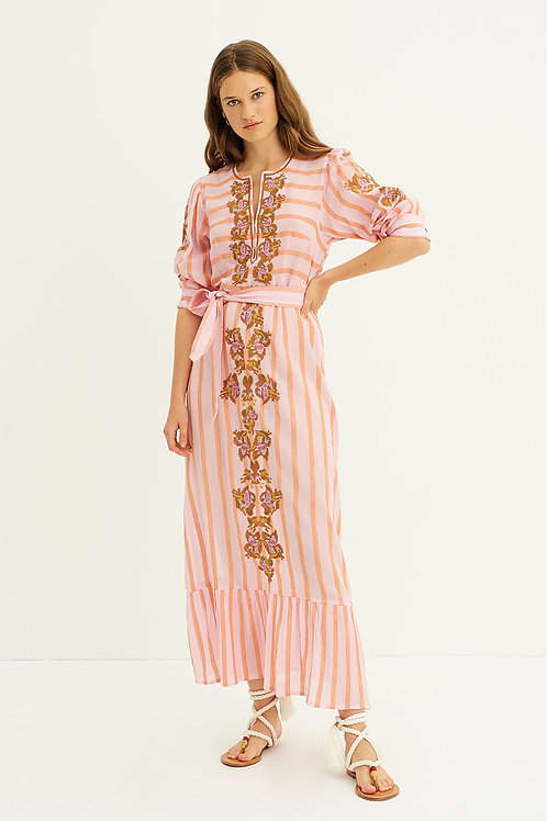 Antik Batik Rosita dress pink 013469