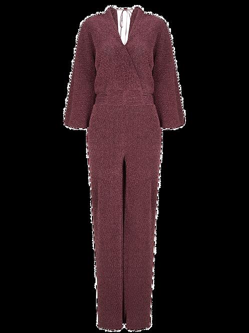 DANTE6 - Jumpsuit Aelin Plisse Lurex Pink