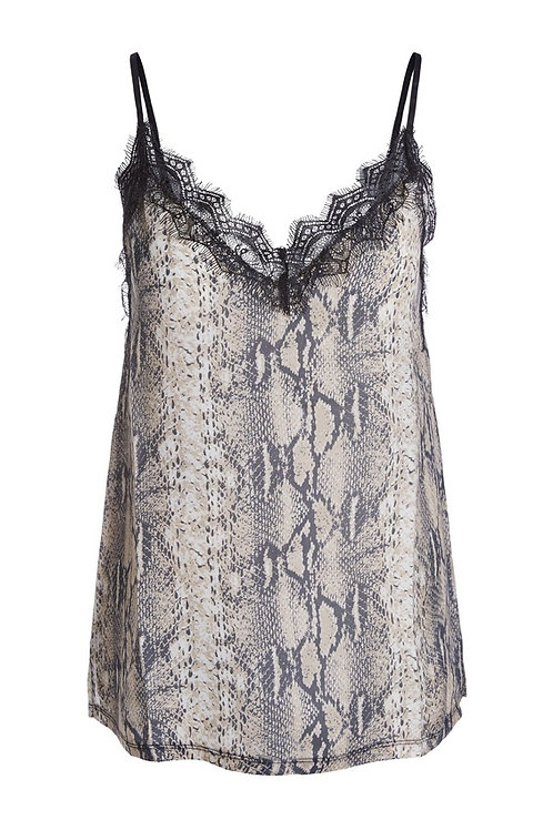 SET Top with snake print