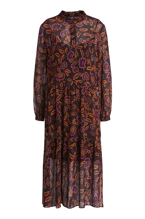 SET - Hippie dress with a floral pattern