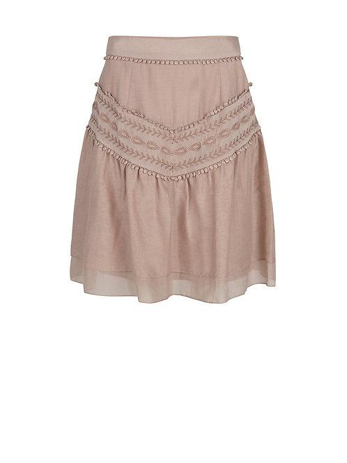 DANTE6 LOUBI SKIRT Short embroidery skirt