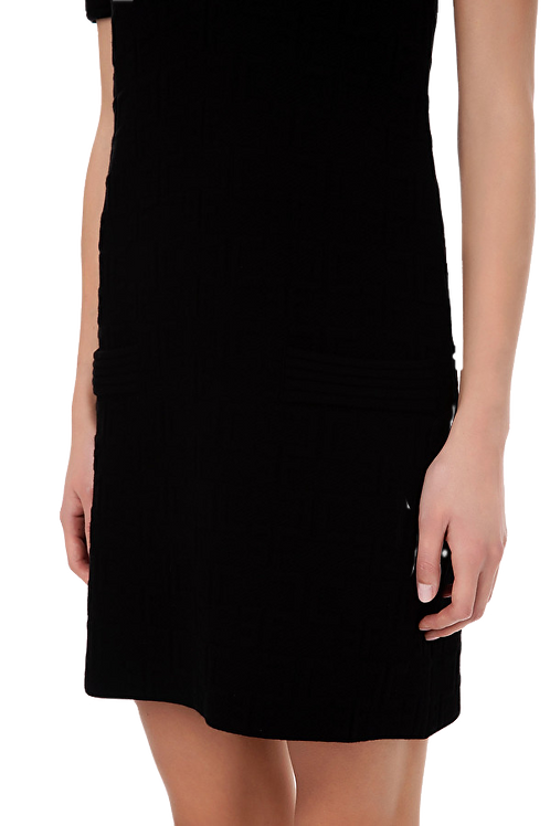 Elisabetta Franchi - Boxy mini dress with puffy sleeves