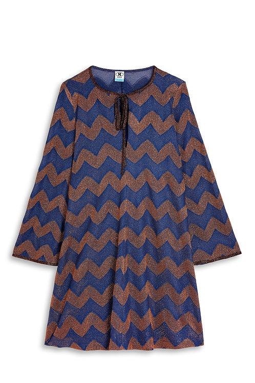 M Missoni Dress Blue Brown