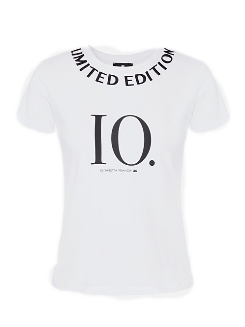 """Elisabetta Franchi - Short-sleeved T-shirt with """"Limited edition"""""""