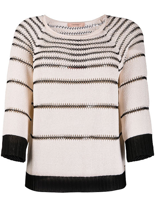 TWINSET knitted top with contrasting stripes