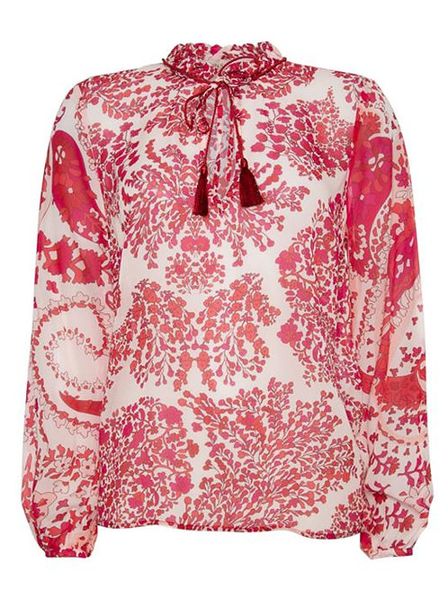 TWINSET paisley print georgette blouse