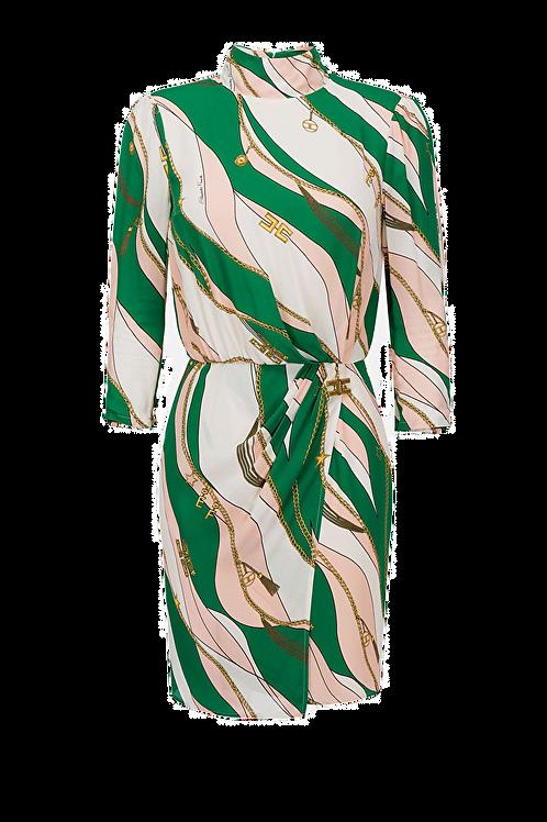 Elisabetta Franchi short dress with foulard print