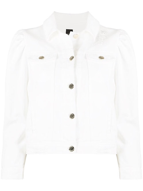 Pinko denim jacket white