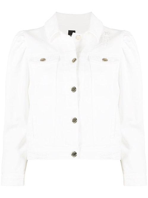 Pinko denim jacket white 013493