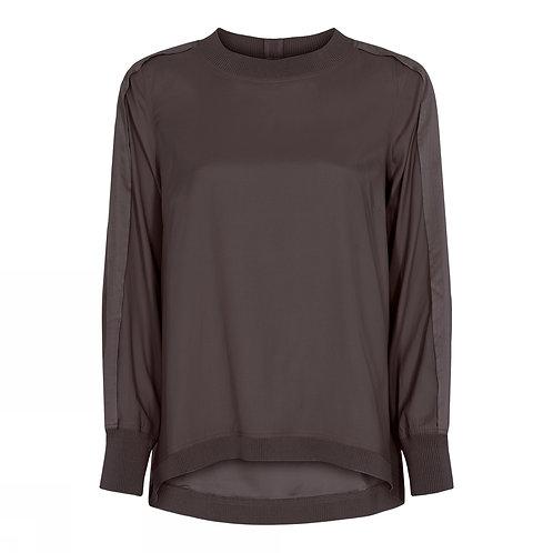 Kopie van Gustav Jeth shirt with rib Brown dust