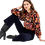 Thumbnail: Antik Batik - Camino Floral Print Blouse - Navy Blue 012762