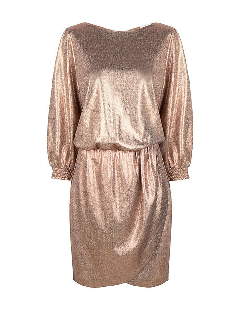 DANTE6 VIRGINIE DRESS Metallic foil printed
